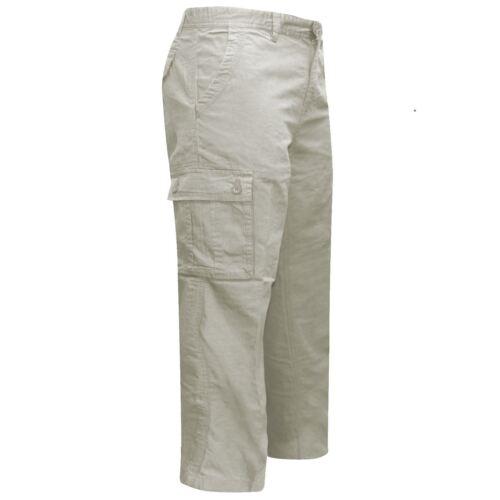 Pantaloni da lavoro formale da uomo cotone BHS Brand lavoro Multi tasche in vita TG 32-46