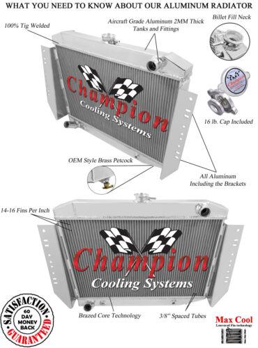 Champion 3 Row Aluminum Radiator for 1972-1979 Jeep Wagoneer V8 Engine