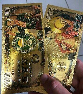 Zoro One Piece Anime Gold Money Card