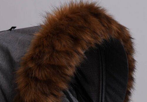 Pram Fur Hood Trim Attachment for Pushchair All Model