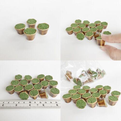 Lot 4 Ceramic Vase Plant Pot Planter Dollhouse Miniature Handmade Garden Fairy