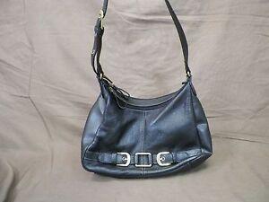 Image Is Loading Aurielle Purse Black Leather Women 039 S Shoulder