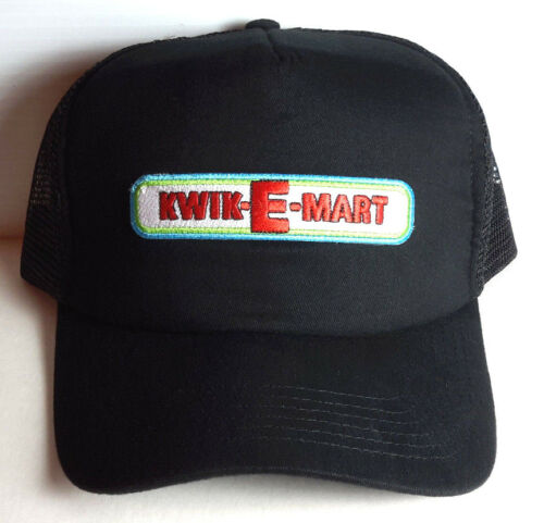 UNWORN Simpsons KWIK-E-MART Logo Trucker//Baseball BLACK Cap//Hat-FREE S/&H