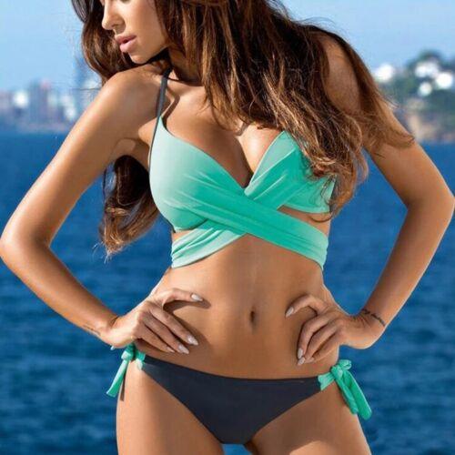Women Bandage Bikini Set Push Up Bra Swimsuit Beachwear Swimwear Bathing Suit TS