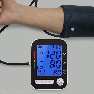 CHANGKUN Automatic Digital LCD Upper Arm Blood Pressure Monitor Heart Beat Meter