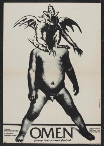 72650 THE OMEN Movie Horror Polish Czech Wall Print Poster Poster