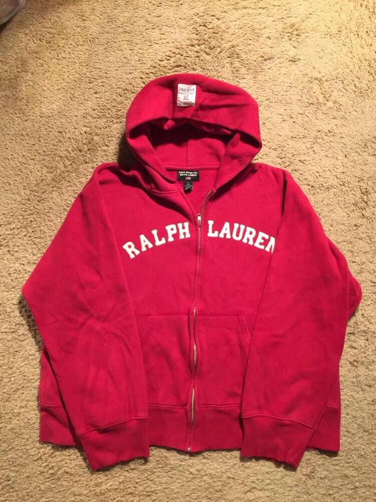 fa930265d20 RALPH LAUREN POLO JEANS CO. UP HOODIE...SIZE XL ZIP SWEATSHIRT ...