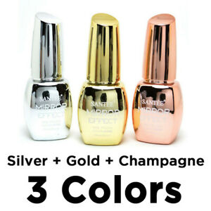 Santee-Mirror-Effect-Nail-Polish-Gold-Silver-Champagne-3-Colors-in-1-Pack