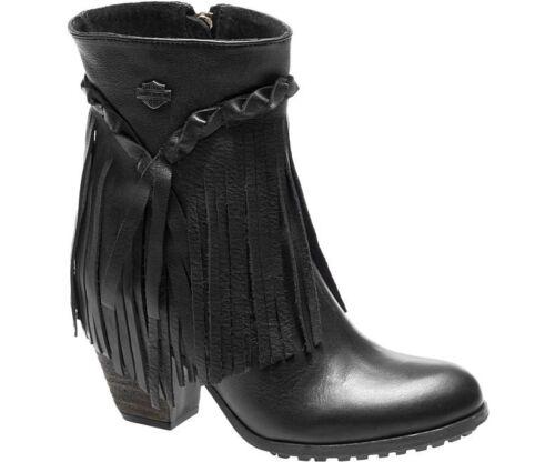 Harley-Davidson Women/'s Black RETTA Full leather Boots  D83985