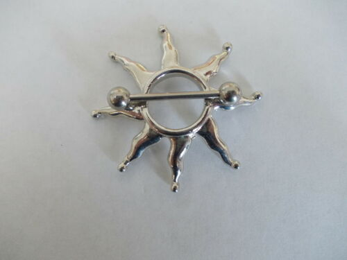 eligió de diseño Acero Quirúrgico Bar Estrella 1 x boquilla bar//shield Flame Flor Web
