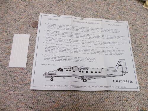 Flightpath decals 1//144 FP44-14 Northwest Airlink Dornier DO-228  Box 6