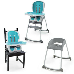 Details about Ingenuity SmartClean Trio 3-In-1 High/Smart  Chair/Booster/Seat Baby/Toddler Aqua