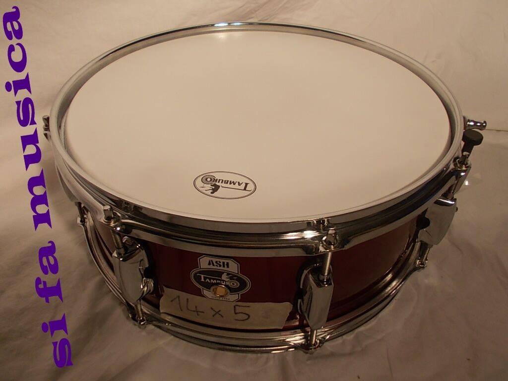 TAMBURO ASH Sparkle rosso snare rullante14 x5  in Frassino per drum set batterìa
