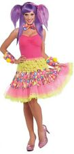Circus Sweetie Ruffled Skirt Clown Pink Dress Halloween Adult Costume Accessory