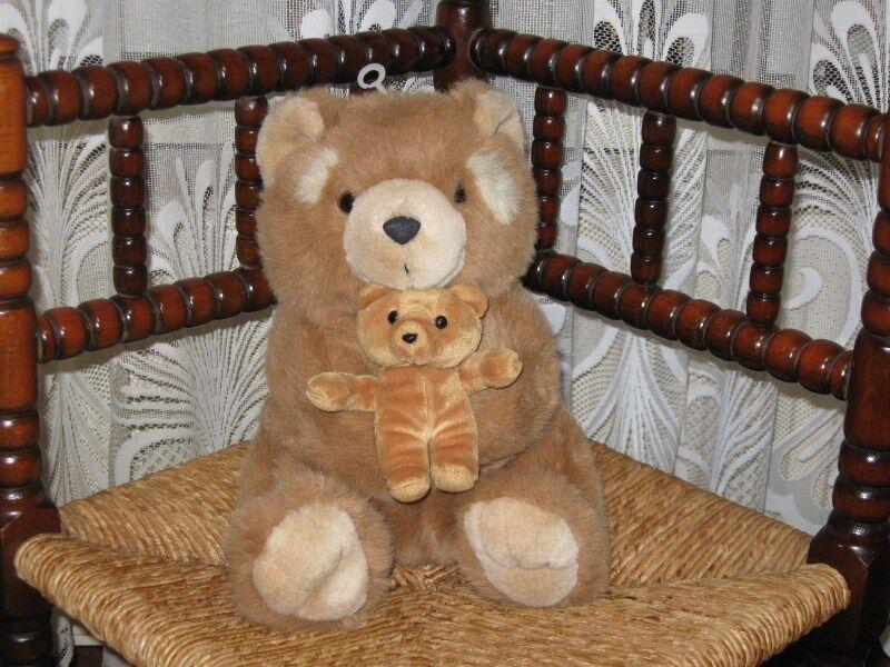 Chosun Int Ohio Soft Sitting Teddy Bear with Baby 86868