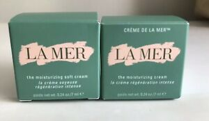 Lot-Of-Creme-de-LA-MER-The-Moisturizing-Cream-amp-Soft-Cream-0-25oz-7ml-Authentic