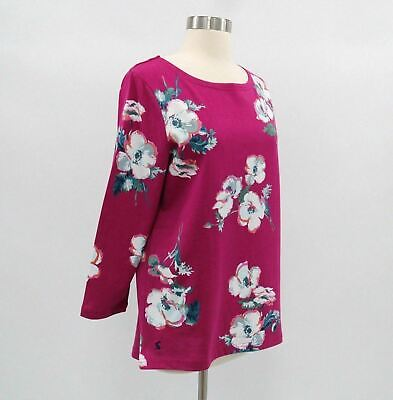 Sizes UK 8-16 Joules Ladies Harbour Print Ruby Pink Posy Jersey Top