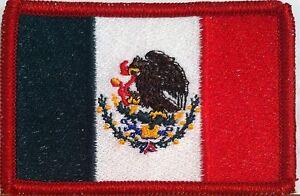 PUERTO RICO Iron-On Biker Patch Biker Emblem Red Border