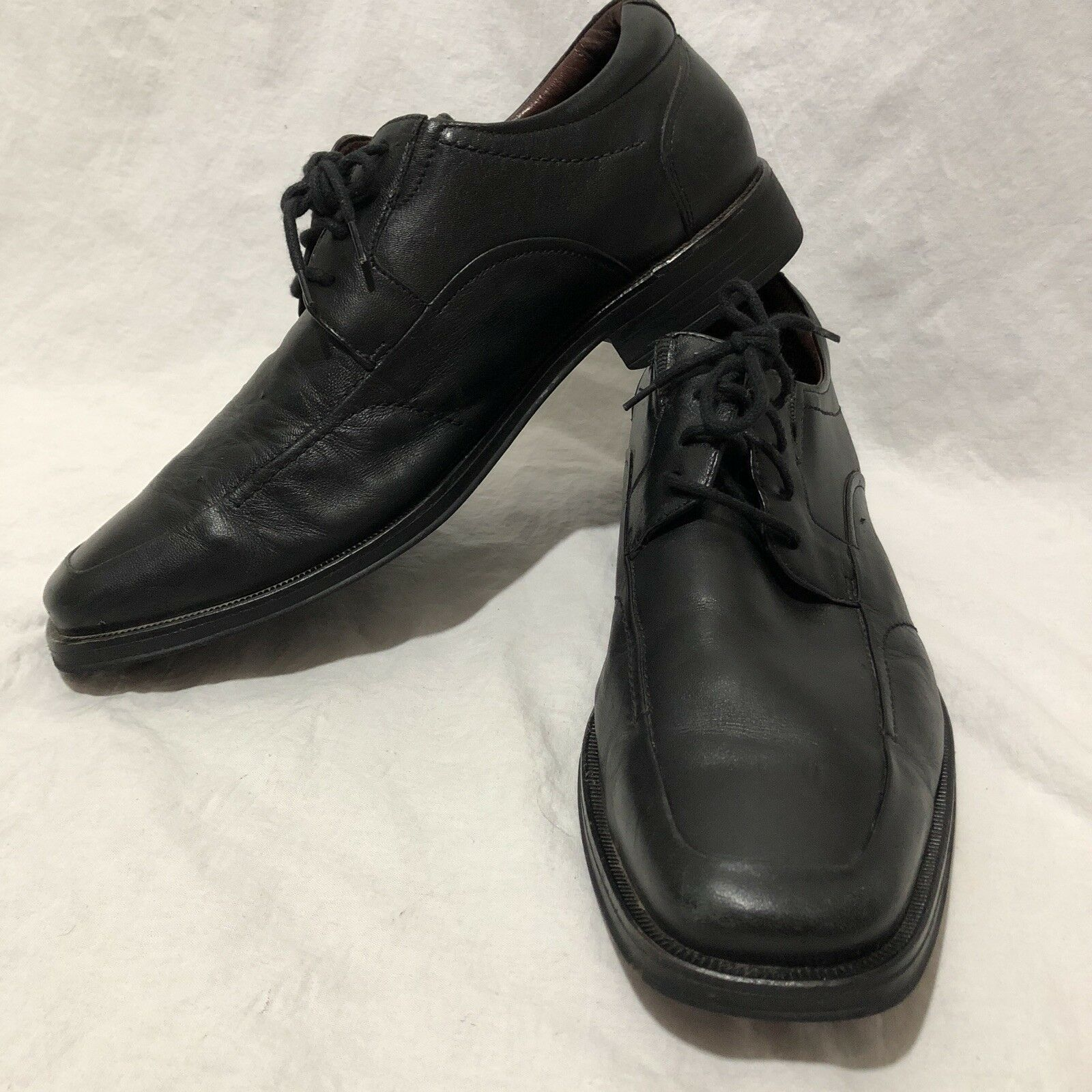 a8db36e14df ... Johnson Johnson Johnson   Murphy Men s Lace Up Oxfords Black Size 10  Made in Brazil a3edbc ...