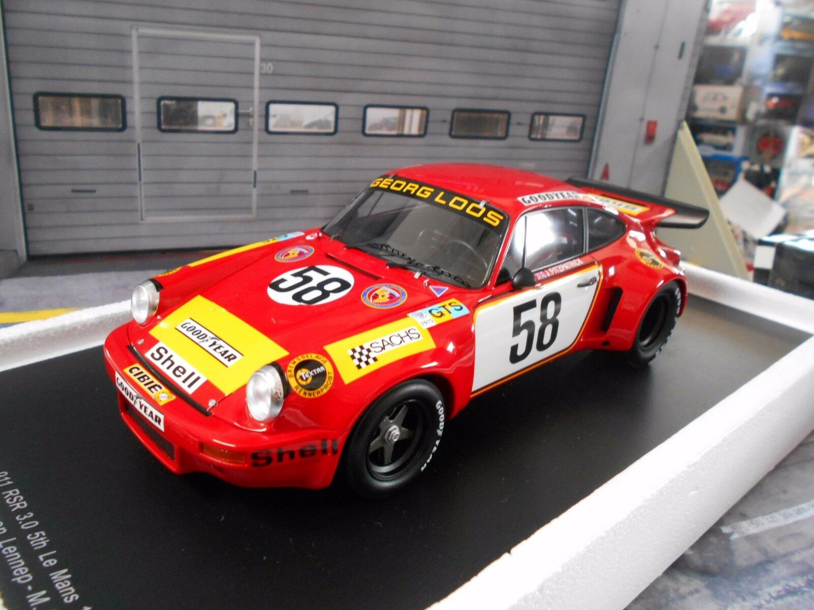 PORSCHE 911 Carrera RSR 3.0 Le Mans cancellata Loos 1975  58 Spark Resin NUOVO NEW 1:18