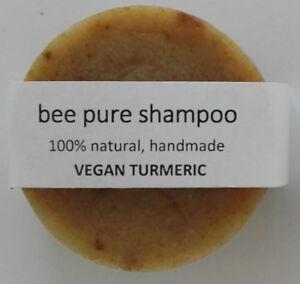 VEGAN-Turmeric-solid-shampoo-50g-bar-soap-handmade-travel-pure-natural-ecofriend