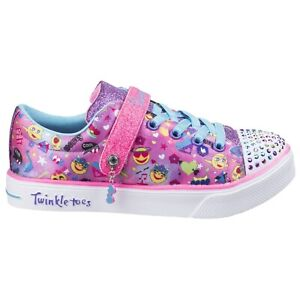 Details about Skechers Twinkle Breeze 2.0 Character Cutie Trainers Glitter Light Up Girls Shoe
