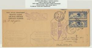 USA-1928-Rara-Camme-22N2d-Cover-ft-Worth-North-Canx-3-Cachets-Inc-2-From-21