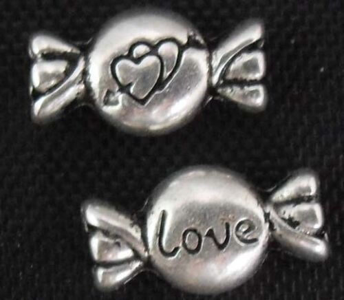 wholesale 53//178Pcs Silver Plated Candy Spacer Beads 11x6mm (Lead-Free)