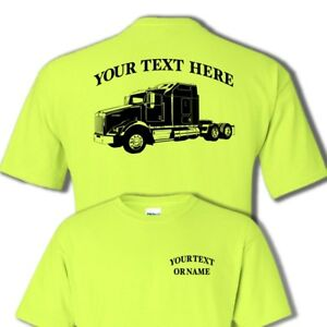 Details about KENWORTH T800 SEMI TRUCK -BIG RIG - PERSONALIZED CUSTOM  T-SHIRT #BR018