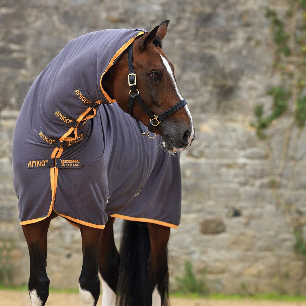 Horseware Amigo All-in-One Jersey Cooler Excal Orange