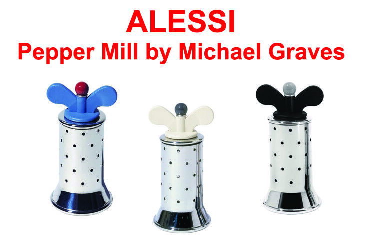 ALESSI Pepper Mill (Available in three colours) 9098 FREE DELIVERY
