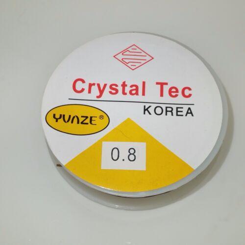 1 X 10M Roll 0.8mm Marrón fuerte Stretch Elastic Cristal hilo Craft Joyería