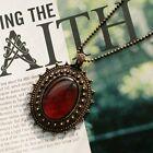 Women Vintage Fashion Choker Rhinestone Crystal Pendant Chain Necklace Jewelry