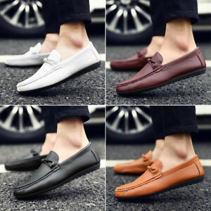 Men-039-s-Casual-Leather-Shoes-Driving-Lazy-Loafers-Peas-Moccasins-Slip-on-Flats