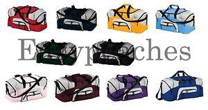 Port-Company-Big-Colorblock-Football-Gym-Bag-Baseball-Duffel-Workout-Sport-BG99