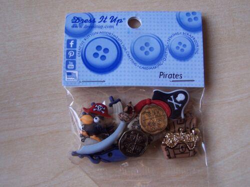 5 piezas Dress It Up Botones-Artesanía//Cardmaking-Piratas