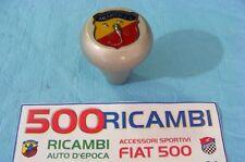 FIAT 500 F/L/R POMELLO ALLUMINIO SATINATO SPORTIVO LOGO ABARTH PER LEVA CAMBIO