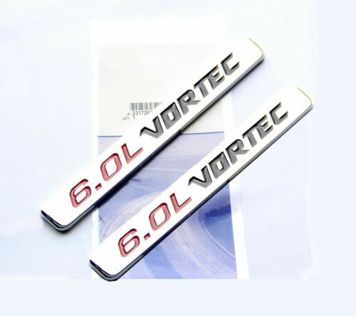 2pcs 6.0L Vortec Hood Max Engine Car Fender Door Emblem Badge Decal Sticker