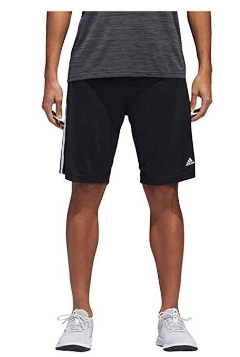 NWT Adidas Short de gymnastique de sport à rayures triples Climalite pour hommes XXL
