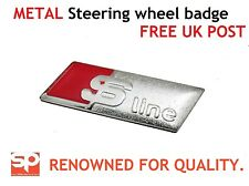 AUDI S LINE STEERING WHEEL BADGE STICKER SELF ADHESIVE A3 A4 A6 Q7 TT METAL
