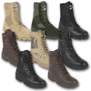 TACTICAL-PATROL-COMBAT-BOOTS-ARMY-JUNGLE-LEATHER-SUEDE-TACTICAL-BLACK-BROWN