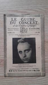 El Guía de La Concierto Y Las Teatro Letra - Robert Casalesus - N º 31-1929