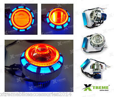 18w Double Angel Ring Led Fan Projector R/B For TVS APACHE 200