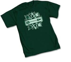 DC-GREEN-ARROW-STARLING-CITY-SYMBOL-LOGO-Green-Adult-Licensed-T-Shirt-S-2XL