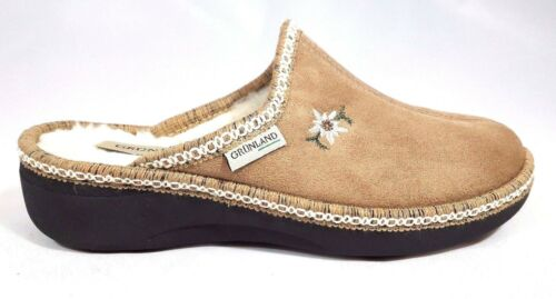 Ciabatte Pantofole Donna Grunland ALDE 835 velluto pelliccia Made In Italy