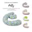 miniatura 1 - Cuscino gravidanza allattamento sfoderabile  supporto lombare con fiocco ovatta