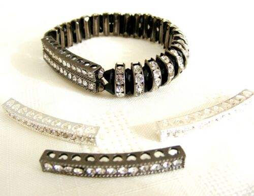"""Rhinestone Bar Connector Findings /""""BUY ONE GET ONE FREE/"""" 38mm lady-muck1"""