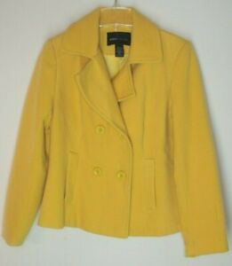 quality first on feet images of top-rated newest Details about Victoria's Secret Moda International MEDIUM Yellow Peacoat  Pea Coat