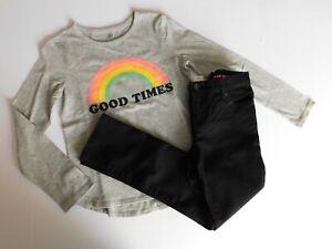 NWT GAP/Children's Place Girl's T-Shirt Flip Sequin/Super Skinny Jeans Medium