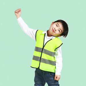 1pc Hi Vis Safety Vest Children Kids Standard Reflective Tape Green Day Night